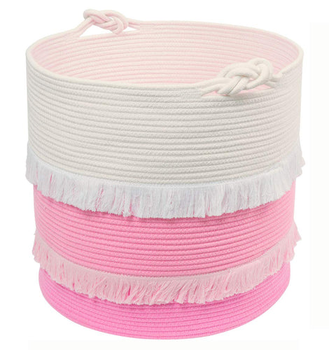 Extra Large Woven Storage Baskets Pink