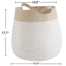 Load image into Gallery viewer, Cute Woven Basket Warm White