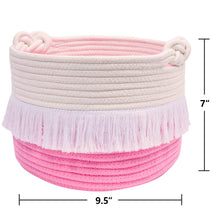 Load image into Gallery viewer, Small Pink Decorative Woven Basket