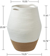 Load image into Gallery viewer, Tall Wicker Hamper Laundry Basket