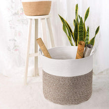 Load image into Gallery viewer, Nursery Basket Soft Storage Bins-Natural Woven Basket