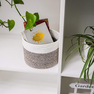 Small Woven Storage Basket For Bedroom