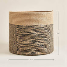 Load image into Gallery viewer, Baby Laundry Basket Jute Woven Blanket