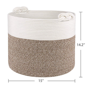 Nursery Basket Soft Storage Bins-Natural Woven Basket