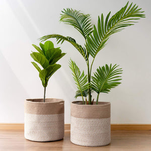 2Pcs Rope Plant Basket 12 inches Woven Basket