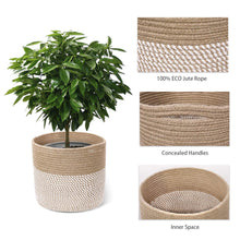 Load image into Gallery viewer, Jute and Cotton Rope Plant Basket