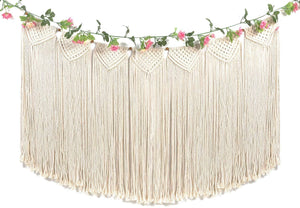 Large Macrame Wall Hanging Garland Boho Banner Curtain Fringe Wedding Wall Decor