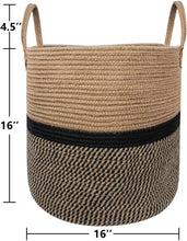 Load image into Gallery viewer, Extra Large Jute Basket Woven Storage Basket with Handles