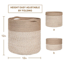 Load image into Gallery viewer, 2Pcs Rope Plant Basket 12 inches Woven Basket