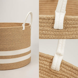 Natural Laundry Basket Toy Towels Blanket Basket
