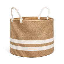 Load image into Gallery viewer, Natural Laundry Basket Toy Towels Blanket Basket