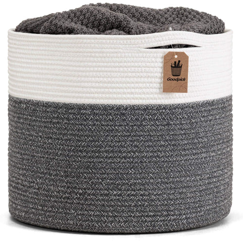 Gray Large Cotton Rope Basket