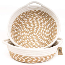 Load image into Gallery viewer, 2 Pack Small Cotton Rope Woven Basket