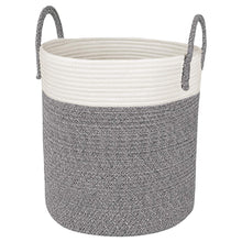 Load image into Gallery viewer, Grey and White Cotton Rope Basket