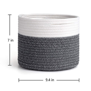 Small Grey Cotton Rope Basket