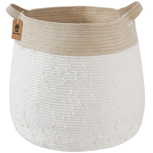 Cute Woven Basket Warm White