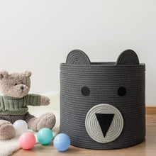 Load image into Gallery viewer, 14'' x 16'' Bear Basket Toy Storage Bin for Kids