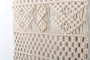 Macrame Wall Hanging Bedroom Wall Decor Beige Details