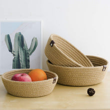 Load image into Gallery viewer, 3 Set Cute Round Small Basket