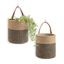 Load image into Gallery viewer, 2 Pack Jute Rope Hanging Baskets