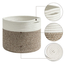 Load image into Gallery viewer, Cotton Rope Small Woven Basket