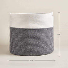 Load image into Gallery viewer, Gray Large Cotton Rope Basket