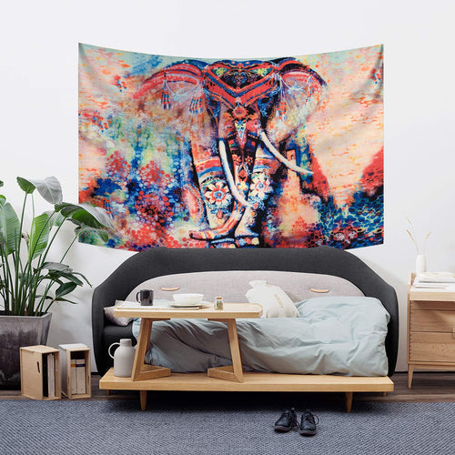 Elephant Tapestry Wall Hanging Decor Indian Tapestry