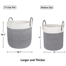Load image into Gallery viewer, X-Large Cotton Rope Basket
