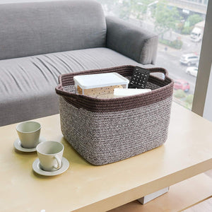 Mix Brown Woven Basket for Shelves