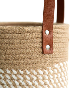 "2pack Small Cotton Rope Hanging Basket 7.87"" x 7"""