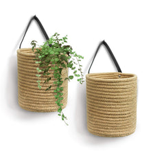 Load image into Gallery viewer, Small Jute Rope Hanging Basket