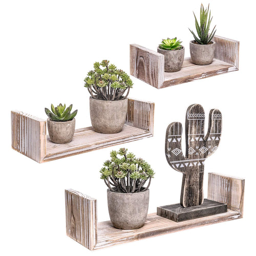 3 Pcs Floating Wood Shelves Farmhouse Storage Shelves