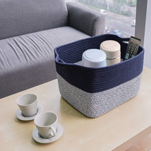 Load image into Gallery viewer, Mix Blue Woven Basket for Shelves
