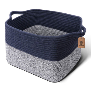 Mix Blue Woven Basket for Shelves