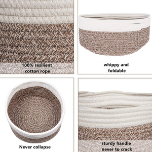 Small Woven Storage Basket Details