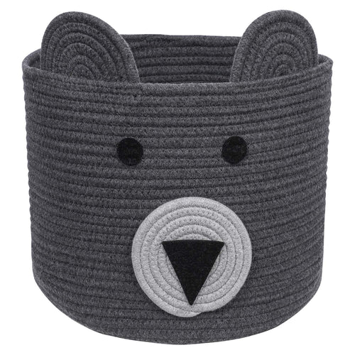 Bear Basket Toy Storage Bin for Kids