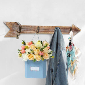 Arrow Sign Wall Mounted  Rack Coat Hooks for Keys Hats Kitchen Stuff Organizer where you hang up the coat rack