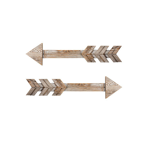 Arrow Wood Signs for Home Decorative Farmhouse Wall Hanging Decor Set of 2 Timeyard