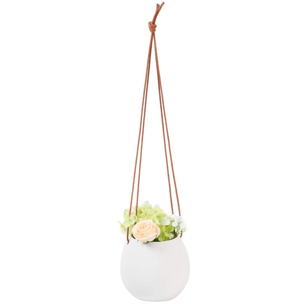 Ceramic Hanging Planter for Indoor Plants Wall Decor
