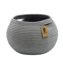 Load image into Gallery viewer, Cotton Rope Round Corner Table Storage Shelf Basket Gray