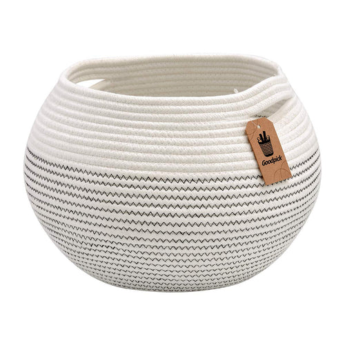 Cotton Rope Round Corner Table Storage Shelf Basket