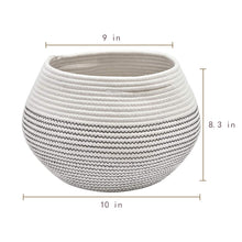 Load image into Gallery viewer, Cotton Rope Round Corner Table Storage Shelf Basket Size