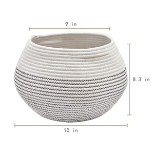 Cotton Rope Round Corner Table Storage Shelf Basket Size