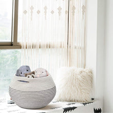 Load image into Gallery viewer, Cotton Rope Round Corner Table Storage Shelf Basket White