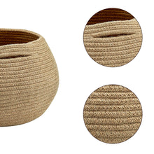 Load image into Gallery viewer, Cute Round Jute Rope Woven Plant Basket Size