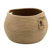 Load image into Gallery viewer, Cute Round Jute Rope Woven Plant Basket