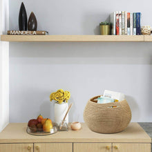 Load image into Gallery viewer, Cute Round Jute Rope Woven Plant Basket table storage
