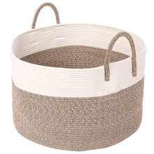 Load image into Gallery viewer, Timeyard Extra Large Rope Storage baskets Round Woven Hamper Basket for Toy Organizer Main