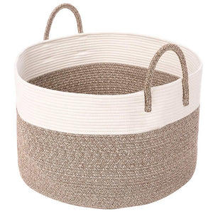 Timeyard Extra Large Rope Storage baskets Round Woven Hamper Basket for Toy Organizer Main