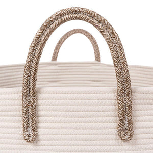 Timeyard Extra Large Rope Storage baskets Round Woven Hamper Basket for Toy Organizer two handles